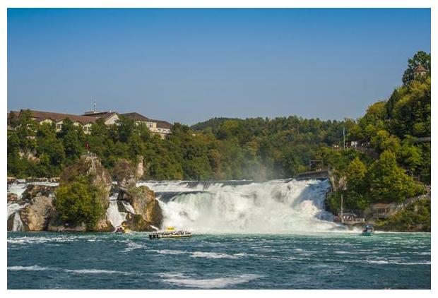 foto's, Rheinfall, Rhine Falls, Schaffhausen, Zwitserland