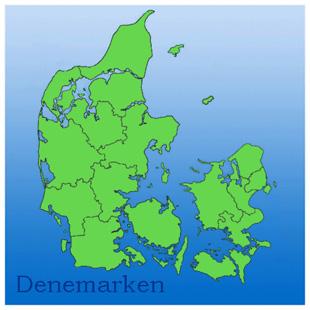 kaart van denemarken met provincies