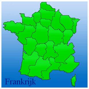 kaart van frankrijk met provincies