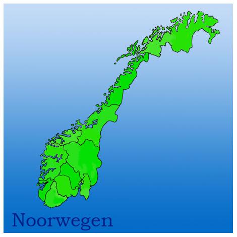 kaart noorwegen, provincies, natuurfoto's