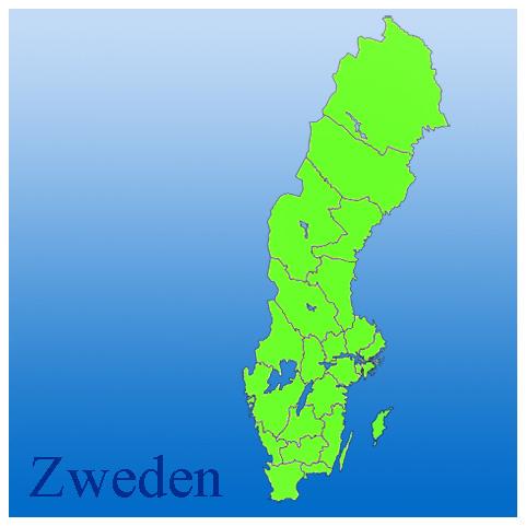 kaart van zweden met provincies