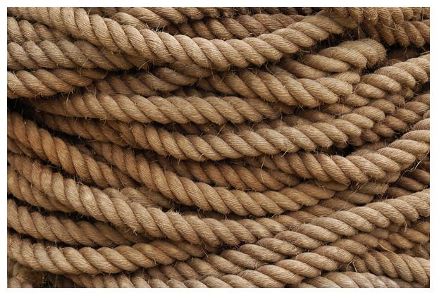foto's, verschillende soorten touw