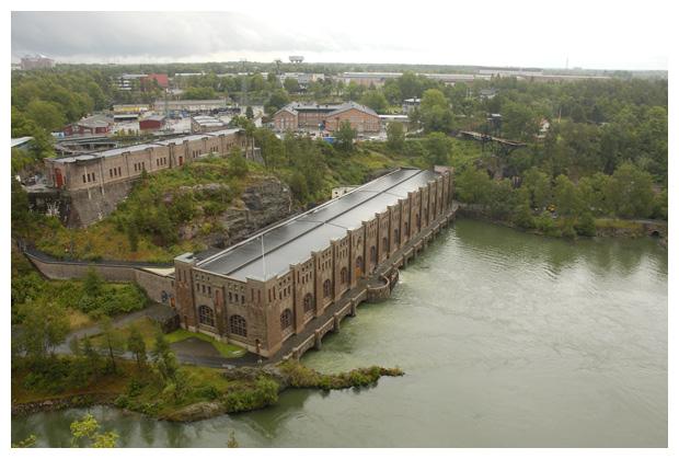 foto's, Olidan hydro powerstation, Trollhättan, Västra götalands län, Västergötland, Zweden