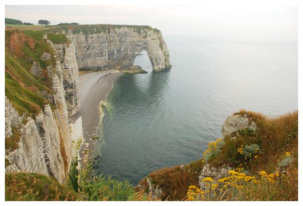 foto's, Étretat, regio Normandië, Frankrijk
