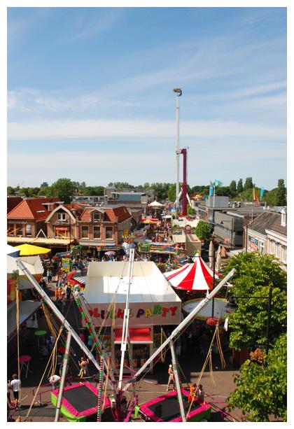 foto's, kermis stad, binnenstad, Schagen
