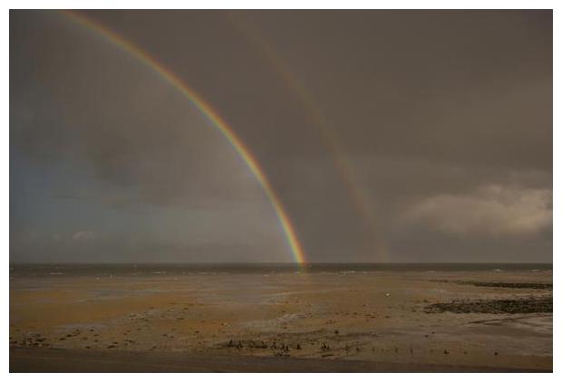 foto's, regenboog, kleuren, lucht