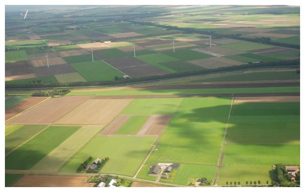 foto's, Zweefvliegen boven de Kop van Noord-Holland
