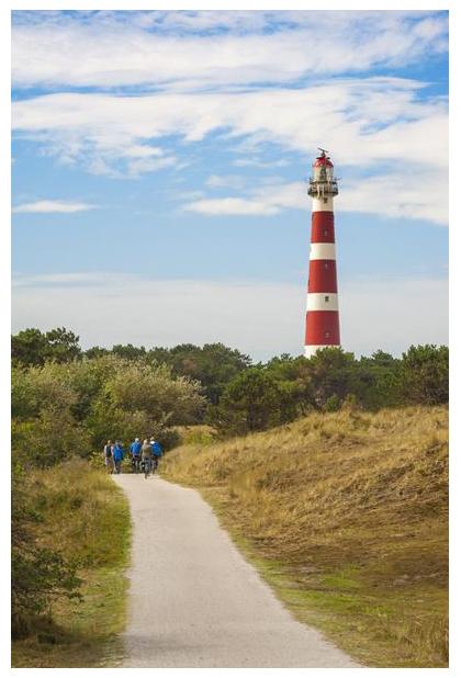 foto's, Vuurtoren, Ameland, Nederlandse Waddeneiland, Friesland, Nederland