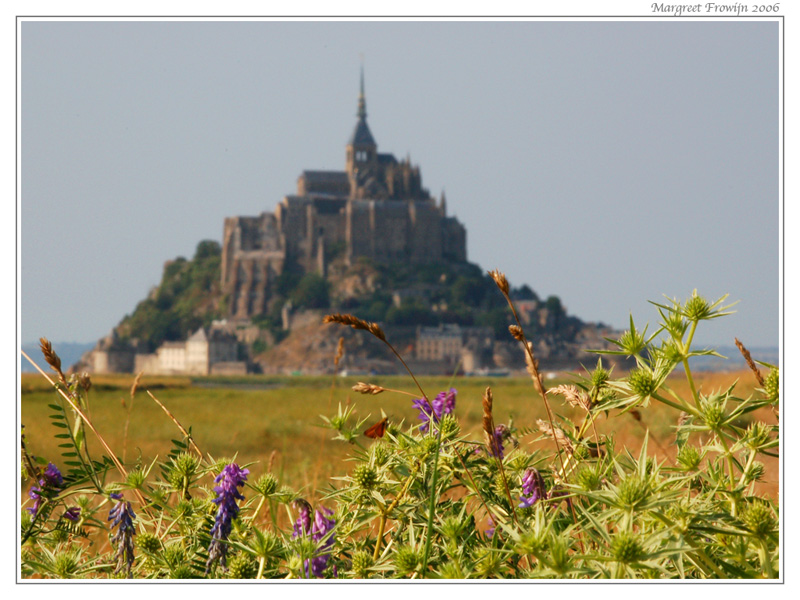 le mont saint michel normandië in frankrijk, france